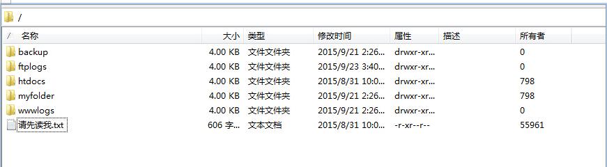 阿里云Linux系统云虚拟主机的FTP根目录说明